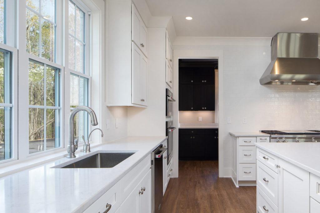 new custom farmhouse-style kitchen in Birmingham