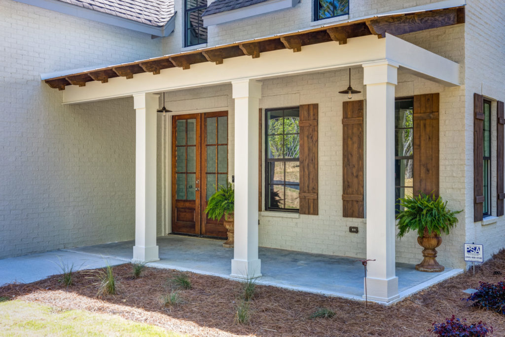 wooden features on a custom home in Leeds AL