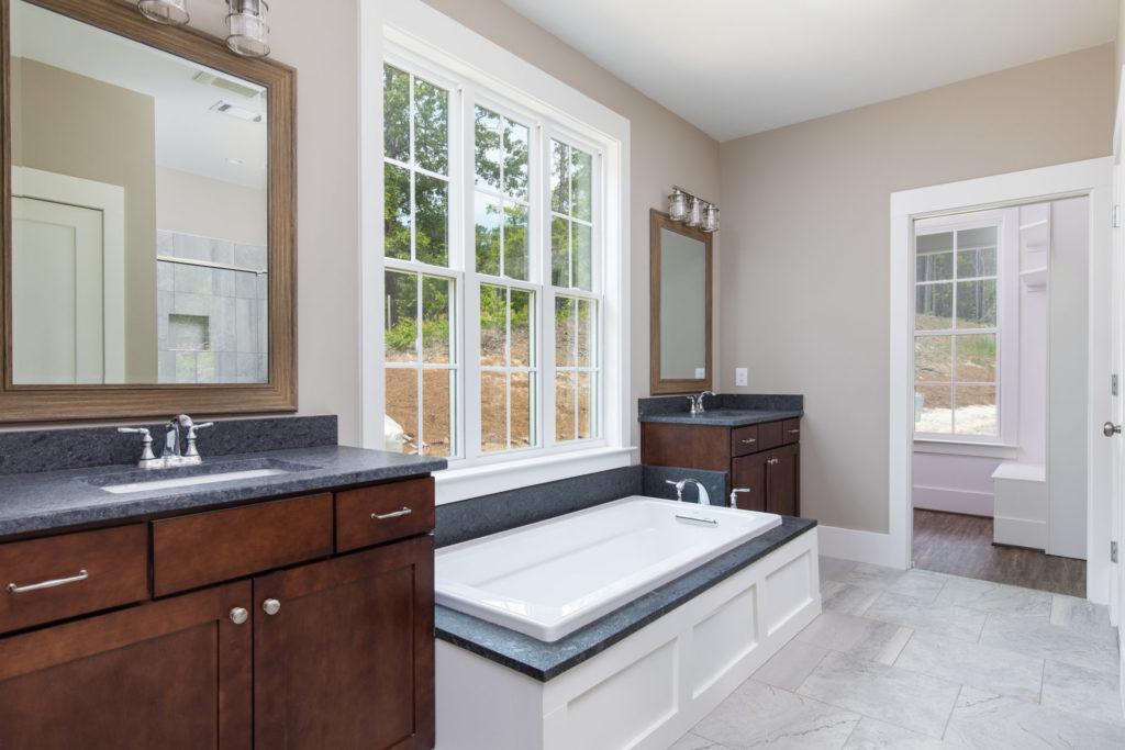 master bath in a Tuscaloosa farmhouse-style home