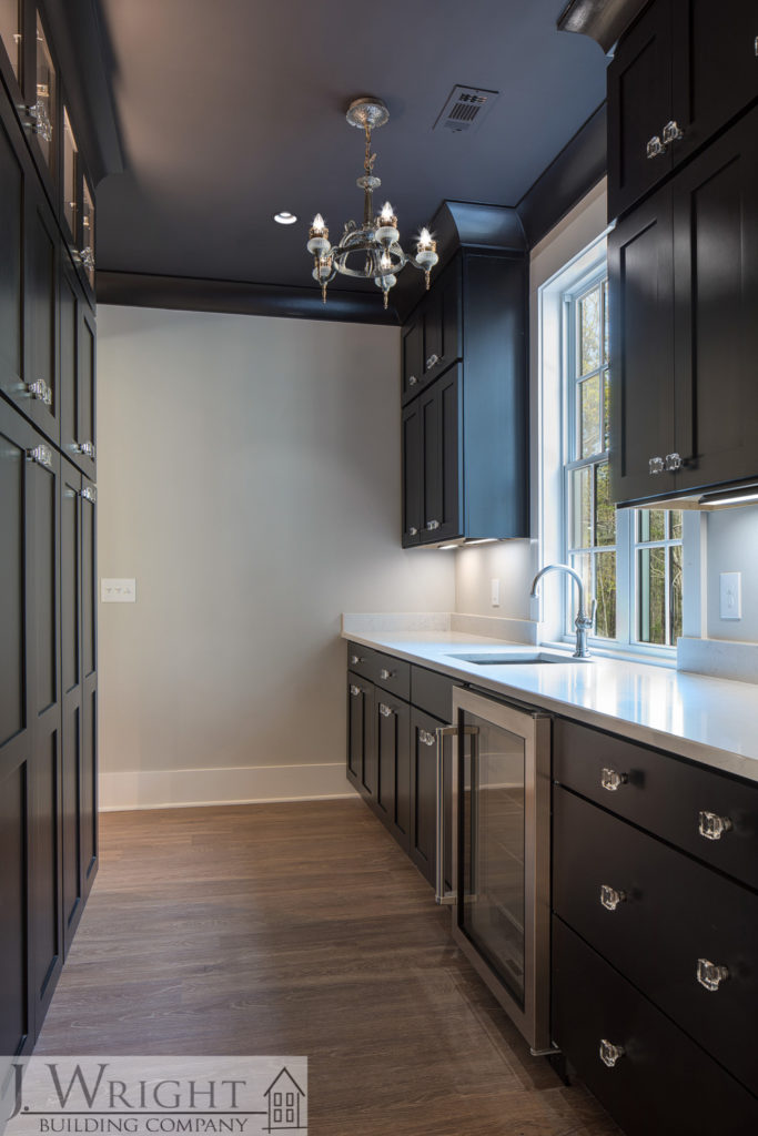 custom pantry in a new custom home