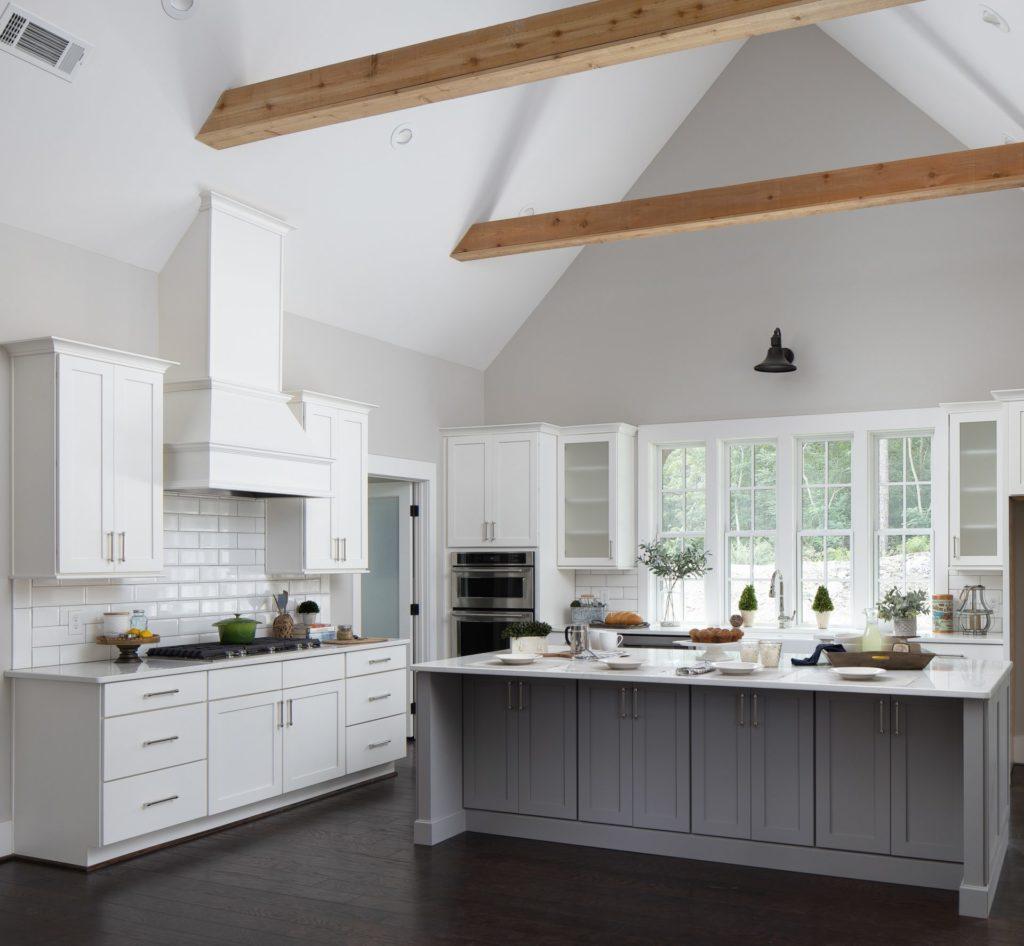 custom kitchen in modern farmhouse