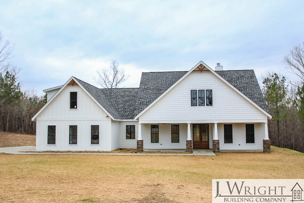 Custom-Built Farmhouse Exterior in Mt. Olive