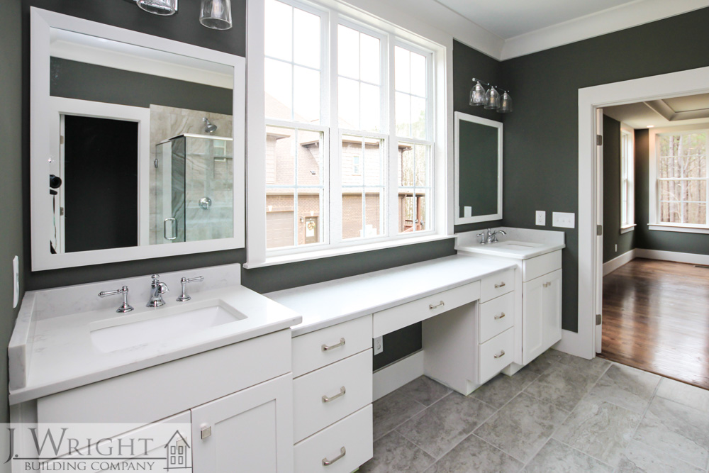 Bathroom countertops in an Alabama custom home