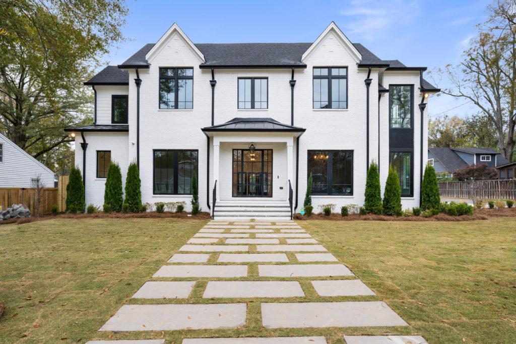 modern Tudor style custom home in Birmingham