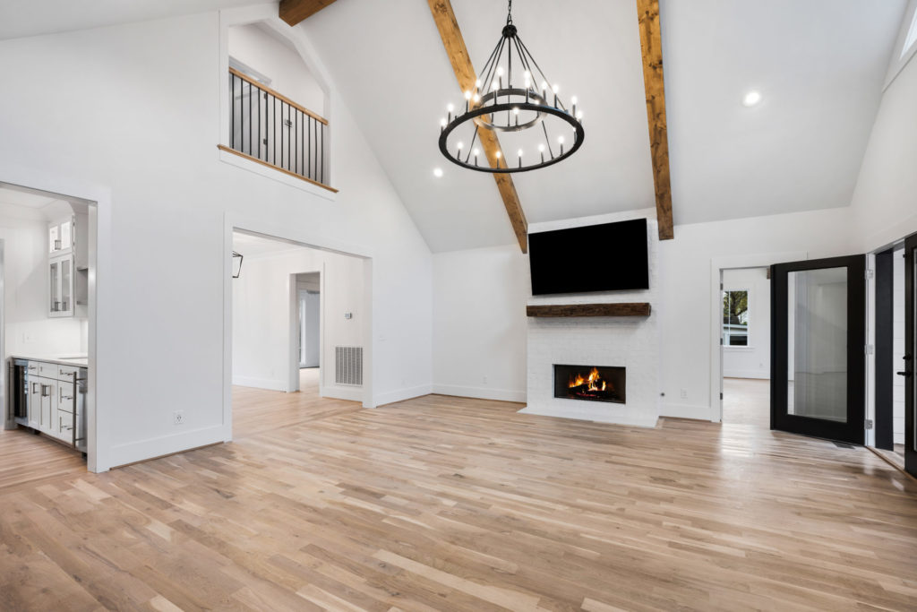 open living room in a custom Birmingham home